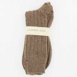 Men's Otter Brown Cashmere Mix Socks Made in Scotland 85%...