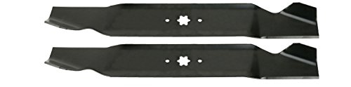 (USA Mower Blades (2 MTD616SBP Standard High Lift for Windsor 50-3945 50-3950 Length 21-3/16in. Width 3in. Thickness .150in. Center Hole 6 Point Star 42in. Deck)
