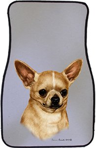 Tan Chihuahua Car Floor Mats - Carepeted All Weather Universal Fit for Cars & Trucks by Unknown (Image #1)