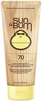 Sun Bum Original Moisturizing Sunscreen Lotion, SPF 70, 3 oz. Tube, 1 Count, Broad Spectrum UVA/UVB Protection, Hypoallergenic, Paraben Free, Gluten Free