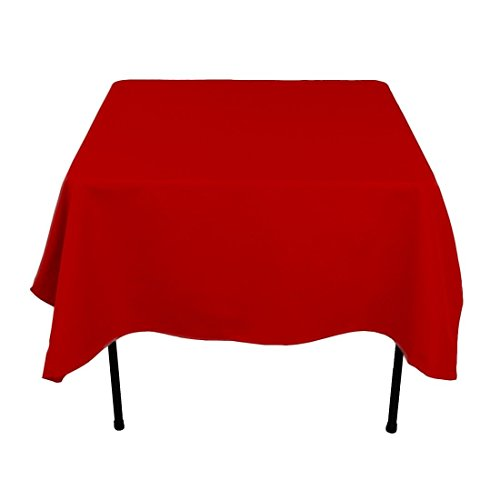 Gee Di Moda Square Tablecloth - 70 x 70 Inch - Red Square Table Cloth for Square or Round Tables in Washable Polyester - Great for Buffet Table, Parties, Holiday Dinner, Wedding & More]()