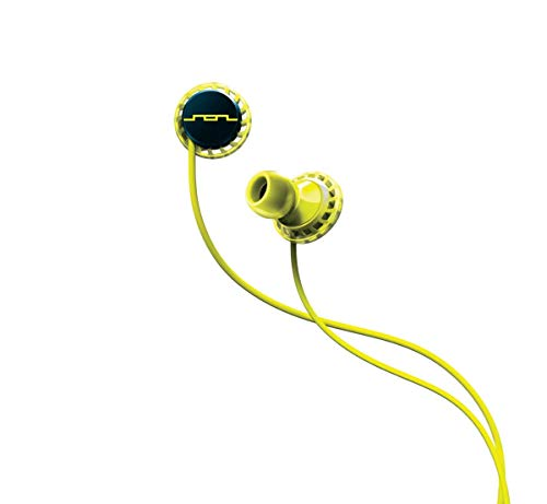(SOL REPUBLIC Relays Sport Wired 1-Button In-Ear Headphones, Android Compatible, Secure Fit For Workouts, Won't Fall Out, In-Ear Noise Isolation, 4 Ear Tip Sizes, Great For Calls, 1152-40 Lemon Lime)