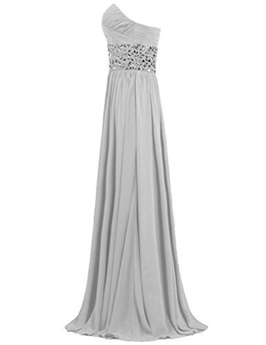 Women's Crystal Silver ANTS Evening Chiffon Prom Strapless Dresses Long Rdzwqvp