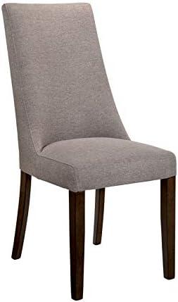 Furniture of America Terra Rustic Fabric Side Chair in Walnut (Set of 2)