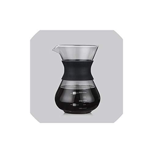 Coffee Pot 200Ml/400Ml Hand Brewed Coffee Pots High Borosilicate Glass Espresso Water Drip Coffee Maker Reusable Tea Filter Tool Coffeeware,B
