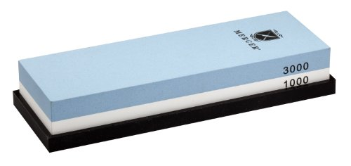 Mercer Culinary 1000/3000 Grit Sharpening Stone, good, but a bit dissappointed made in china