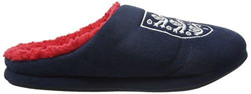 Bafiz Herren England Home Slipper Pantoffeln Blau (Navy/Red 902)
