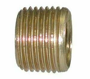 Midland Metal 28117 Brass 1/2 X 3/8 Face Bushing (Pack Of 10)