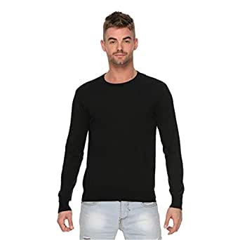 Shades Of Grey Casual Pullover For Men - M, Black