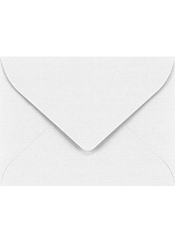 End Gift Card - #17 Mini Envelopes (2 11/16 x 3 11/16) - White Linen (250 Qty.) | Perfect for Wedding, Parties, Event Favors, Place Cards, Holiday Gifts and Year End Gratuity | LEVC-WLI-250