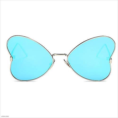 Miroir soleil Bleu Femmes disponibl de Soleil Cadre Personnalité pour Lunettes UV en femmes Classique irrégulier Lunettes métal Vintage de De Protection Rimmed Lunettes soleil Lunettes de soleil polarisées wrqxr8F