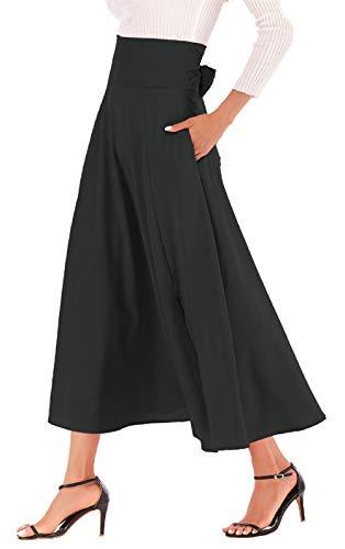 d61b712cae6 Calvin   Sally Women s Casual Flowy Dress High Waist Pleated Midi ...