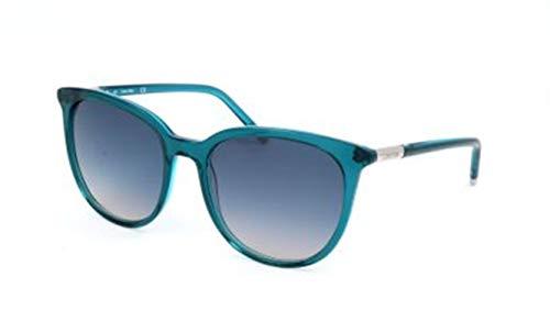 Calvin Klein Women's Ck4356s Cateye Sunglasses, Aqua, 56 mm (2017 Sonnenbrillen Trend)