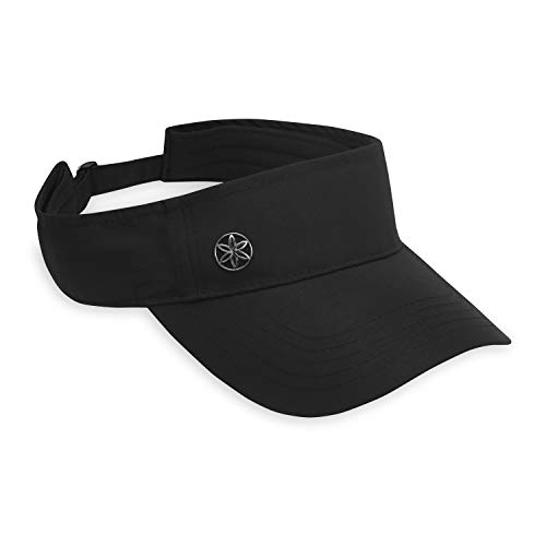 "Gaiam Performance Fitness Visor - Moisture Wicking Sweat Headband, Pre-Curved Bill, Adjustable Sure-Fit Sizing Strap (Fits Head Circumferences 21.5"" to 23"")"