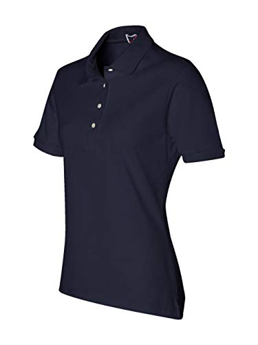 - Jerzees womens 5.6 oz. 50/50 Jersey Polo with SpotShield(437W)-J NAVY-S