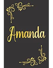 PERSONALIZED AMANDA GIFT: Beautiful Undated Weekly Planner With Amanda Name On Cover