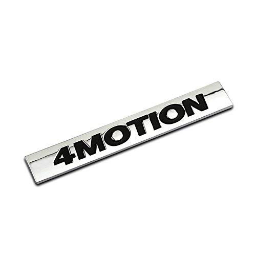 InSense 1Pcs 3D Metal 4 Motion Car Side Fender Rear Trunk Emblem Badge Sticker Decals for Universal Cars Motorcycle Car Styling