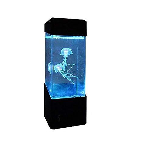 Epiten Jellyfish Lámpara eléctrica para acuario, cambio de color, lámpara de estado de ánimo