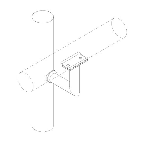 Stainless Steel Handrail Wall Bracket Luminous Quasar (Mounting Surface: Wood or Sheet Rock) by Inline Design (Image #1)
