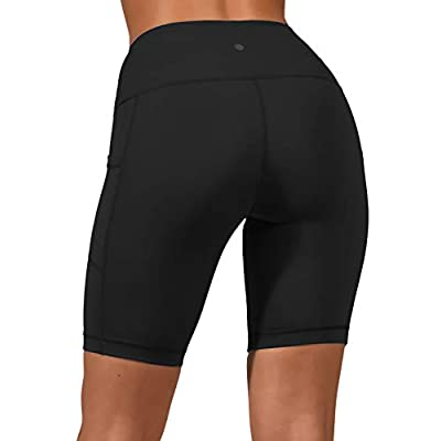 "Yogalicious High Waist Squat Proof 9"" Biker Shorts with Side Pockets for Women at Women's Clothing store"
