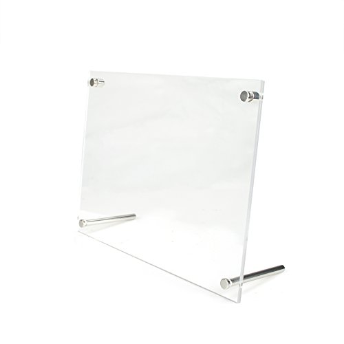 (Aspire Acrylic Picture Frame Clear Free Standing Desktop L-Frame Base Photo Holder-9.5X7.5)