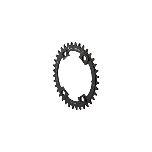 - Wolf Tooth Components Drop Stop Shimano Asymmetric Chainring - 110 BCD Black, 36t