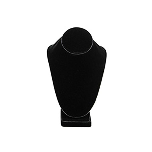 Mooca Black Velvet Jewelry Display Necklace Bust Neckform (Display Black Velvet 12 Inch Necklace)