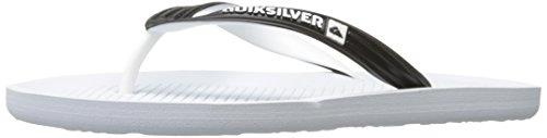 Quiksilver Männer Haleiwa Sandale Schwarz / Weiß / Weiß