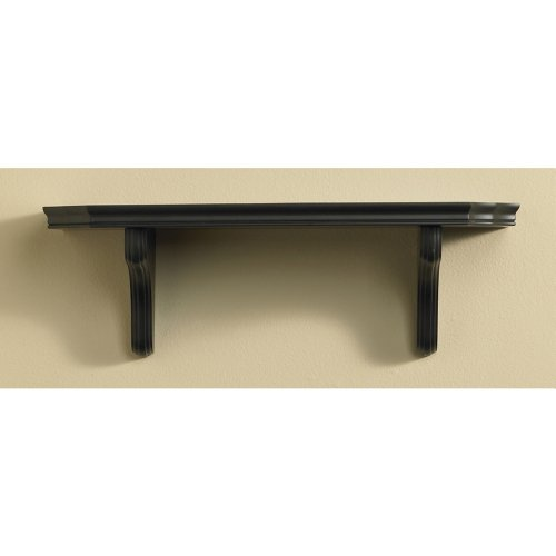 InPlace Shelving 0194397 9-Inch by 24-Inch Belvedere Shelf Kit, Black (Shlf Wall)