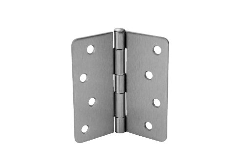 Steel Square Hinge Residential (Don-Jo RPB74040-14 .097 Gauge Steel Square Residential Hinge, Polished Chrome Plated, 1/4