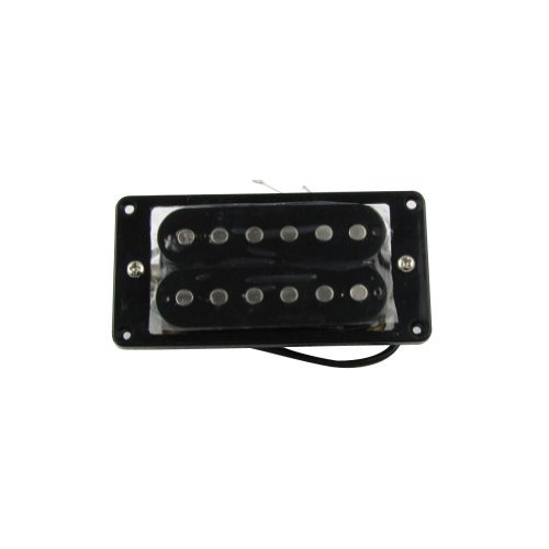 Musiclily 52MM Electric Guitar Humbucker Bridge Double Coil Pickup,Black Black Humbucker Double Coil