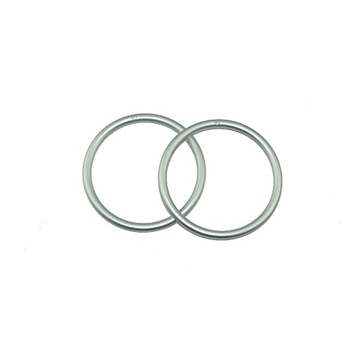 Topind 3'' Large Size Aluminium Baby Sling Rings for Baby Carriers & Slings of 2 pcs (Silver) by TOPIND