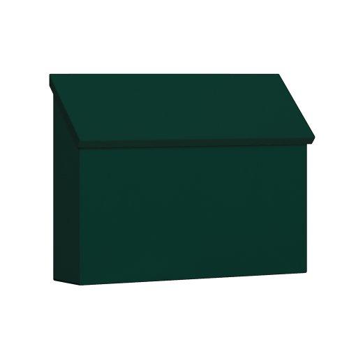 Design Mount Mailbox Wall (Salsbury Industries 4610GRN Traditional Mailbox, Standard, Horizontal Style, Green)