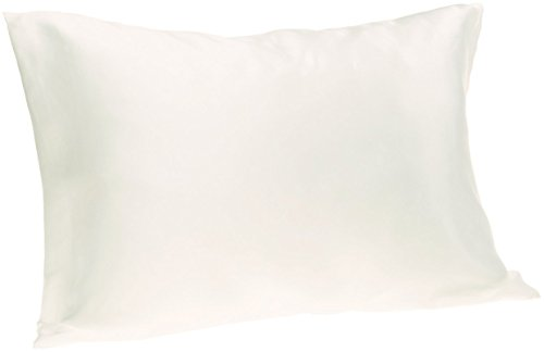 100% Silk Pillowcase for Hair Zippered Luxury 25 Momme Mulberry Silk Charmeuse Silk on Both Sides of Cover -Gift Wrapped- (King, Natural Undyed White)