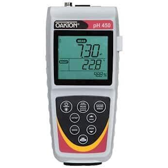 Oakton PH/MV/ISE/T Waterproof pH 450 Portable Meter Only