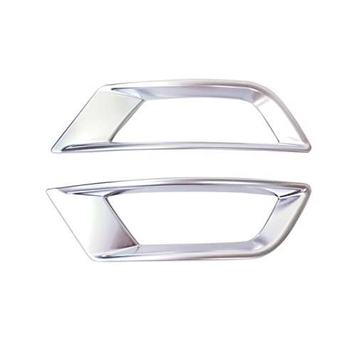 HIGH FLYING ABS Chrome Rear Tail Fog Light Lamp Bezel Cover Decor Trim 2pcs For Jaguar F-Pace X761 2016-2018 by HIGH FLYING