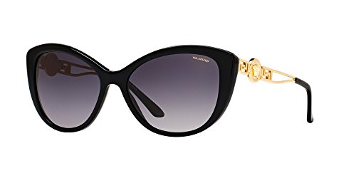 Versace VE4295 - GB1/T3 Sunglasses BLACK w/ POLAR GREY GRADIENT Lens 57mm by Versace