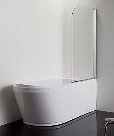 pareti in vetro per vasca parete per vasca da bagno singola in vetro curva spessore