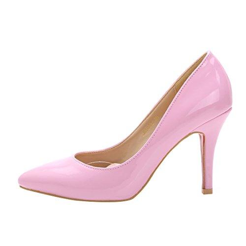 Femmes Cuir Verni HooH Escarpins Rose Stiletto LB0002 dq7EwEx15F