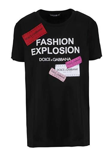 Dress Cotton & Gabbana Dolce Shirt (Dolce e Gabbana Women's F8k74zg7ryqn0000 Black Cotton T-Shirt)