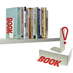 Set of 2 Book! Reflective Word Bookends