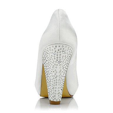 Printemps Automne Confort Mariage Chaussures Paillette Evénement Femme Soie amp; à Brillante Confort Gros Talons ggx Talon ivory Ivoire Soirée LvYuan Habillé Xz8x0wc