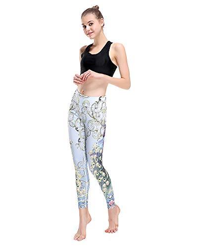 Pants Women Peacock Morbidi Bianco Shopping Go Xxxl Easy Allenamento Butirici Leggings Di For Yoga White fwXHtH1aSq