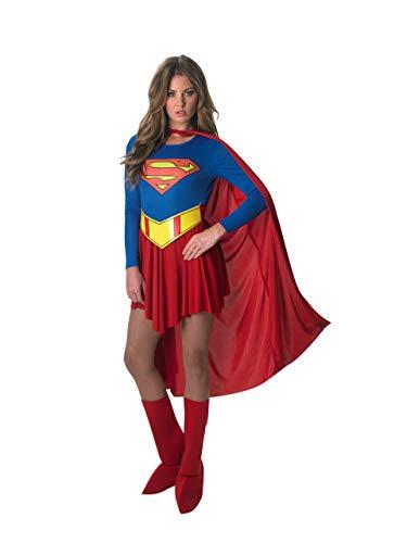 Rubie'S DC Comics Deluxe Supergirl Costume, Red/Blue, Medium