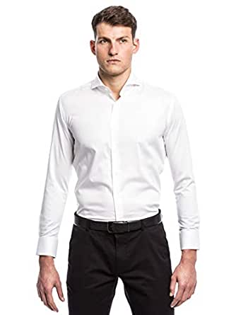 Pierre Cardin White Shirt Neck Shirts For Men
