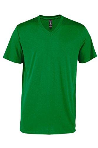 (Casual Garb Men's V-Neck T Shirt Short Sleeve Tee T-Shirts for Men Elevate Series Kelly Medium)