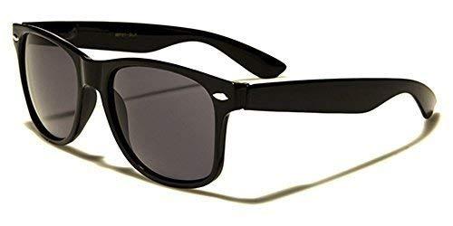 GRATIS Negro Brillante y Protección vivos Lentes sol Nuevo Mujer Negro Gafas de Calidad Espejo Humo Retro Clásico Bolsa Hut UV400 Blanco Hombre COMPLETO qBwXZYwR