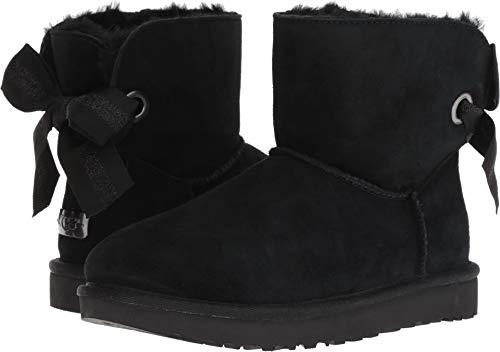 UGG Women's W Customizable Bailey Bow Mini Fashion Boot Black 7 M -