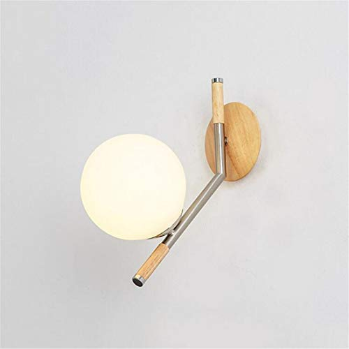 Retro Light Sconce Creative Round Sphere Glass Wall Light Northern Europe Concise Magic Beans Metal Iron Art Wall Lamp