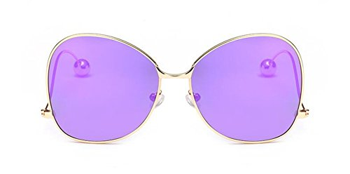 rond lunettes en Lennon du style retro inspirées soleil cercle de polarisées vintage Pourpre Pièce métallique zqfz7r